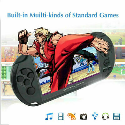 """Rechargeable 5.0"""" 8G 32bit Handheld Video Game Console Player Camera Mp3 USB 2.0"""