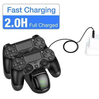 Controller Fast Charging Charger Station Stand Dualshock USB Port Base for PS4