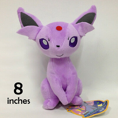 Pokemon Espeon Plush Soft Toy Stuffed Animal Doll Teddy New Gift Decoration 8""