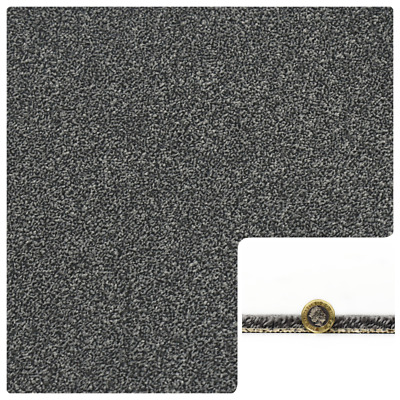 HARDWEARING 11mm Thick Dark Grey Charcoal Action Back 4m Wide Carpet £15.99m²