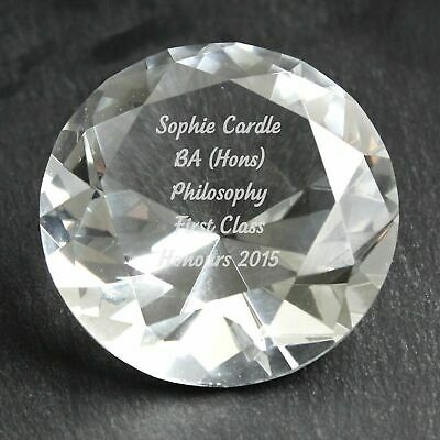 Personalised Engraved Diamond Paperweight - Mothers Day Birthday Wedding
