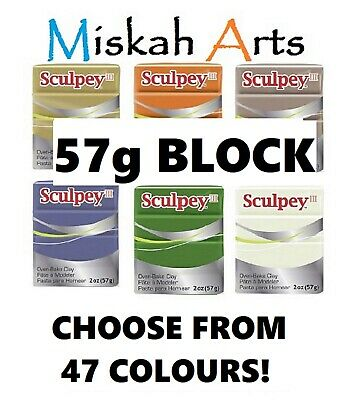 SCULPEY III -  Polymer Clay - 57g  - CHOOSE FROM 47 COLOURS