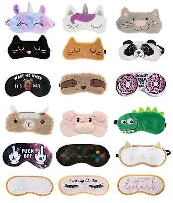 Travel Sleep Aid Eye Mask Dinosaur Llama Party Cat Unicorn Sloth Blindfolds