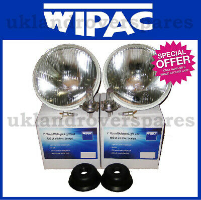"CLASSIC CAR 7/"" H4 HALOGEN HEADLIGHT LAMP CONVERSION KIT MG TVR LAND ROVER"