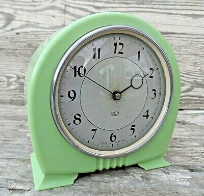 Vintage Smith Sectric Art Deco Style Electric Mantle Clock Gwo Rewired Vgc
