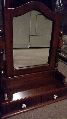 Ethan Allen Heirloom Maple Mirror And Vanity Local Pick-up  Used