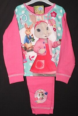 PETER RABBIT Pyjamas Girls Long-Sleeved Pink LILY BOBTAIL PJs 18 Months-5 years