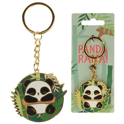 Fun Collectable Panda Enamel Keyring comes complete with split ring and chain