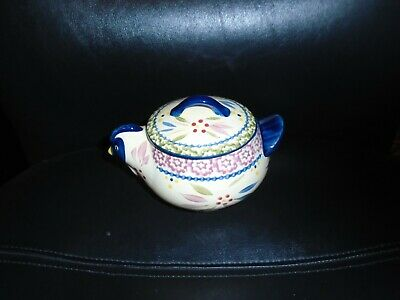 Temp-Tations Old World Blue Chicken Covered Sugar Bowl
