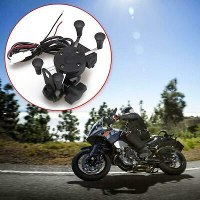 Grip MASO Motorcycle Bike Car Mount Cellphone Holder USB Charger For Phone IDI