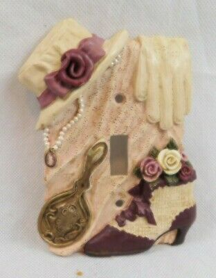 Light Switch Plate Cover Victorian Hat Shoe Necklace Mirror Glove Lace