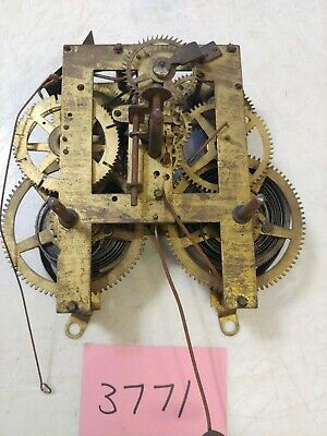 Antique Ingraham Mantle Clock Movement Calumet
