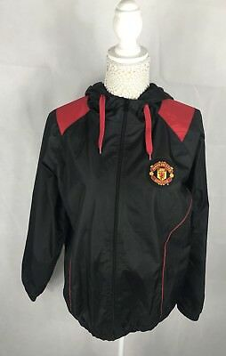 Men's Manchester United MUFC Storm-Fit Waterproof Jacket Black Football Sz S