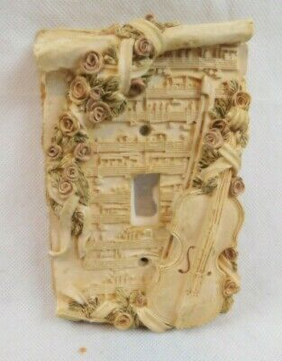 3D Raised Single Light Switch Wall Plate Cover Roses Musical Notes Instrument
