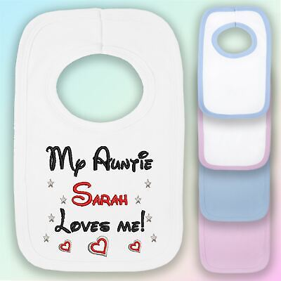 I Love My Auntie Embroidered Baby Romper Babygrow Gift Aunt Nephew Niece Heart