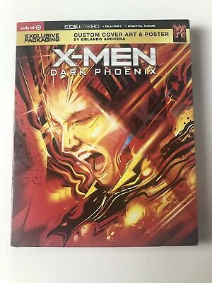 X-Men Dark Phoenix Target EXCLUSIVE 4K+Blu-ray+Digital W/Slipcover NEW & Sealed