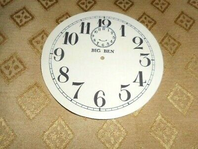 Round 'Big Ben' Paper (Card) Clock Dial - 103mm M/T - Arabic- CREAM-Parts/Spares