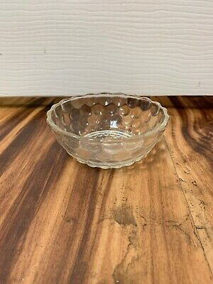 """Anchor Hocking Glass Clear Bubble 4 1/2"""" Berry Dessert Bowl"""