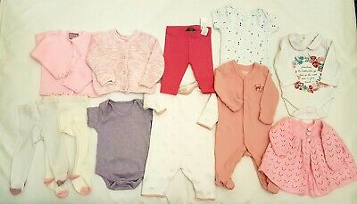 Baby Girl Clothes Bundle Age 0-3 Months Mamas & Papas/Tu/George, One-Pieces Etc.