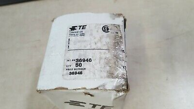 x50  36946 Amp TE Connectivity 1/0 AWG Solistrand Parallel Crimp Splice Copper