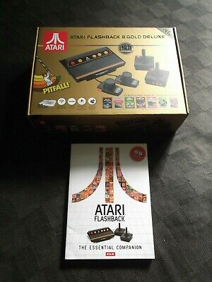 Atari Flashback 8 Gold Deluxe 120 Games w/ Paddles & Companion Guide HTF!