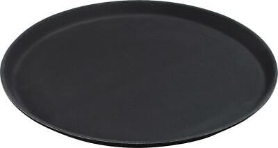 "Carlisle 1100GL004 GripLite Round Tray 11.25"" Black Case of 24"