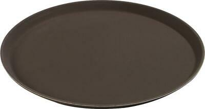 "Carlisle 1100GL076 GripLite Round Tray 11.25"" Tan Case of 24"