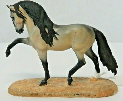 Animal Artistry Donna Chaney Andalusian Stallion Resin Horse Stablemate LE Pope