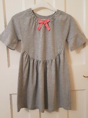 Girls KIN John Lewis Grey Jersey Cotton Dress with Stretch, Excellent Condition