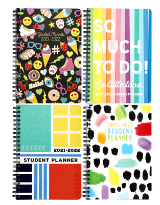 New 2019 2020 Student Weekly Daily Planner Agenda Monthly School ~ Choice