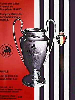 1985 European Cup Final Liverpool v Juventus 29th May. Original MINT CONDITION.