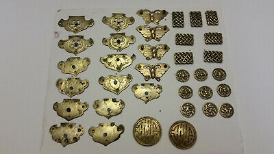 Vintage Asian Brass Decorative Elements (35) Various Designs
