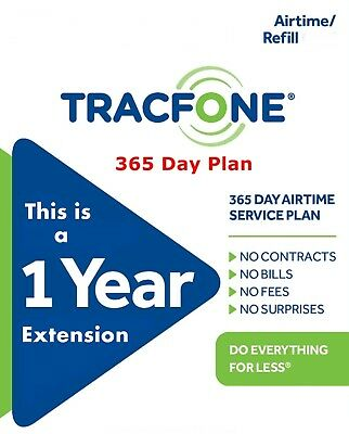 TracFone 1 Year Service Extension Digital Refill Adds 365 Days Basic Phone Only