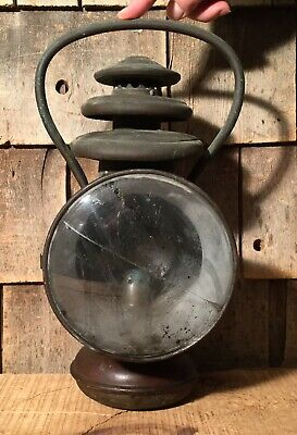 Antique Brass Carriage Buggy Oil Lantern Lamp Light -SOLAR #724