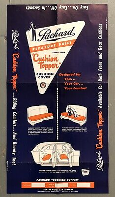 Vintage PACKARD Auto Car Dealer CUSHION TOPPER Poster Advertising Sign 24x13