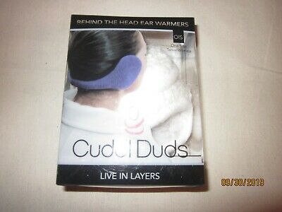 new CUDDL DUDS behind head EAR WARMERS nylon POLYESTER plush ADJUSTABLE white OS
