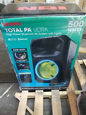 "ION TOTAL PA MAX Audio - 15"" 500W 2-Way PA Speaker - Black, Tested work amazing."