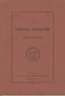 National Geographic Magazine 1975 Reprint of 1888 Vol 1 No. 1