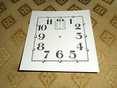 "Square Alarm Paper (Card) Clock Dial - 3"" M/T- Arabic- Cream -Part/Spares"