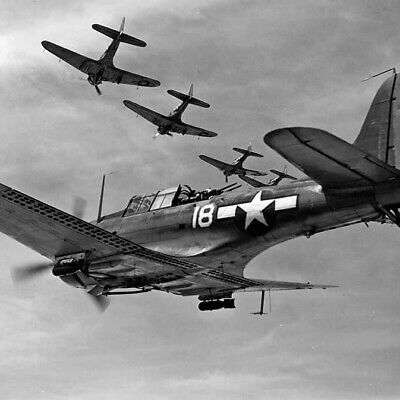WW2 WWII Photo US Navy SBD Dauntless Dive Bombers Midway USN World War Two 5417