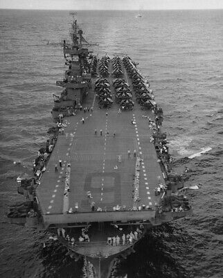 WW2 WWII Photo USS Enterprise CV-6 with Aircraft on Deck World War Two US Navy