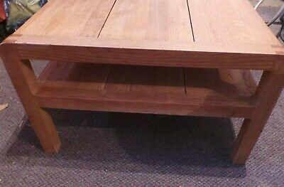 Habitat Radius Solid Oak Coffee Table With Shelf Rrp Today
