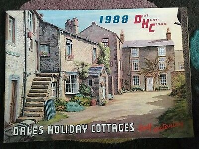 1988 Yorkshire Dales Cottages Holiday Guide / Brochure