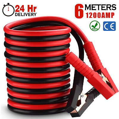 Heavy duty Jump Leads 1200AMP Battery Starter 6M Booster Cables Car Van Start