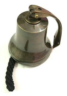 "6"" Nautical Aluminium Ship Bell Hanging Door Bell with Wall Mounted Bracket"