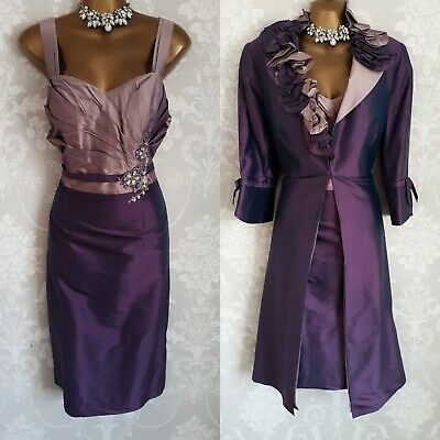 Veni Infantino Dress & Jacket Size 12 Mother Of The Bride Occasion E200 Bnwt