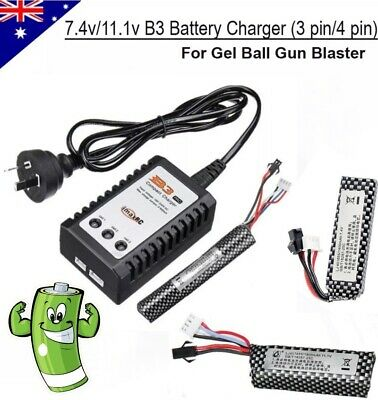7.4v/11.1v Lipo Battery B3 Balance Charger Gel Ball Blaster JinMing M4A1 Upgrade