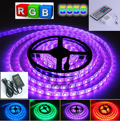 5050 SMD RGB Changing color 300 LEDs Strip Light+Remote Controller+Power Adapter