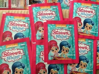 Topps Shimmer And Shine Stickers 50 packs NICKELODEON STICKER COLLECTION packets