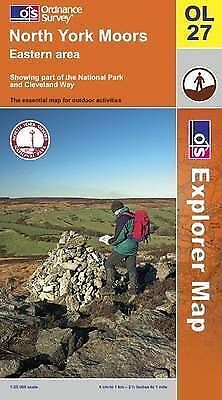 North York Moors: Eastern Area (OS Explorer Map), Ordnance Survey, Very Good Boo